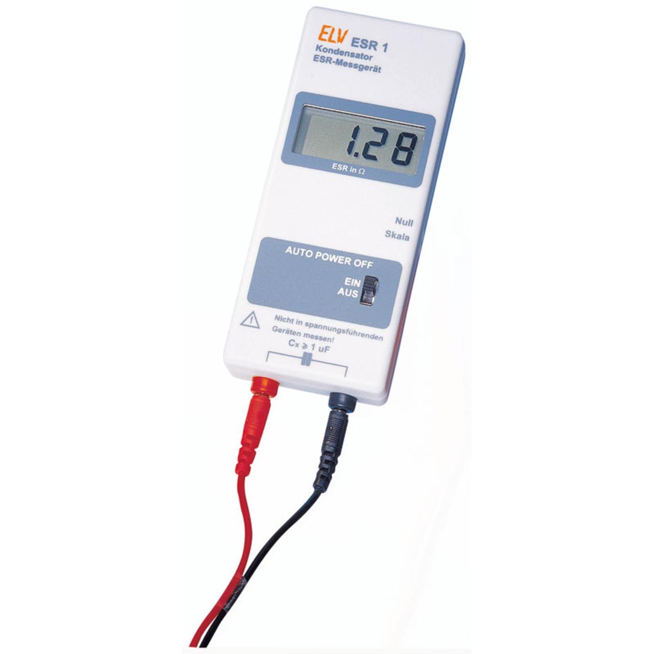ELV Bausatz ESR-Messgerät ESR 1 inkl- Messleitungen