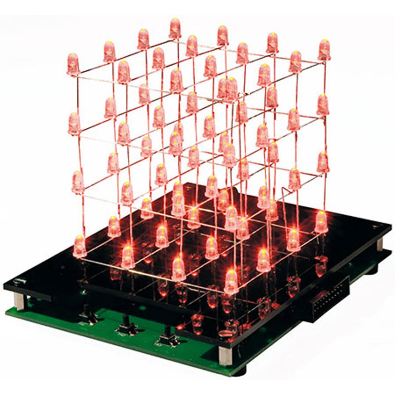 ELV Bausatz LED-Cube LC444- 4x4x4 LEDs