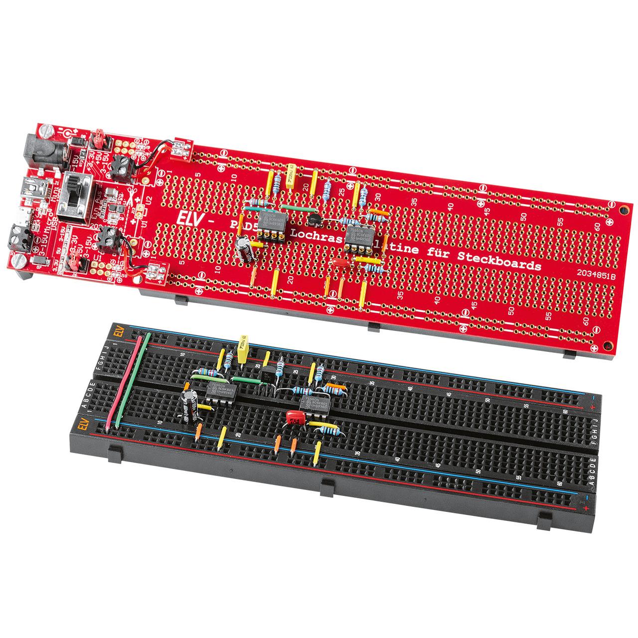 ELV Bausatz Lochrasterplatine PAD5 fund-252 r Steckboards mit Spannungsreglern