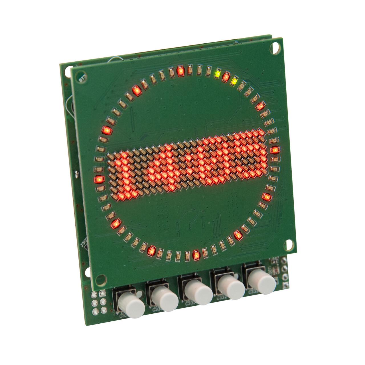 ELV Bausatz Mini-Kreis-LED-Uhr MKLU1