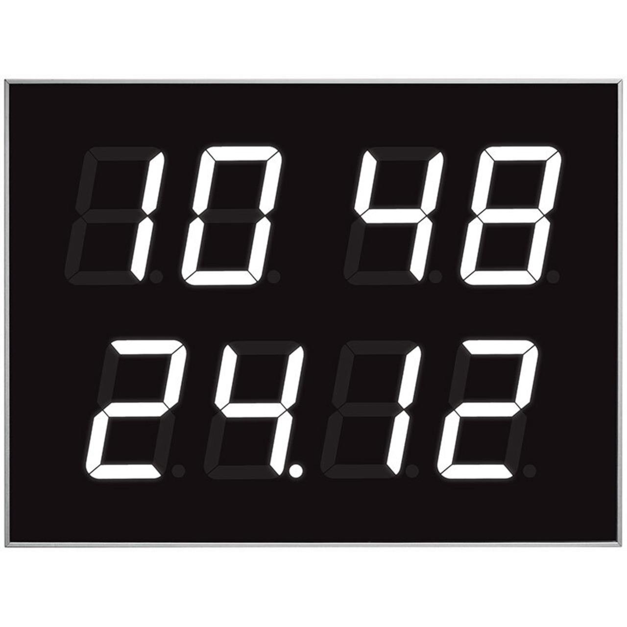 ELV Bausatz Multifunktions-LED-Display mit Funkuhr und Temperaturanzeige MLDP1- ohne Gehäuse
