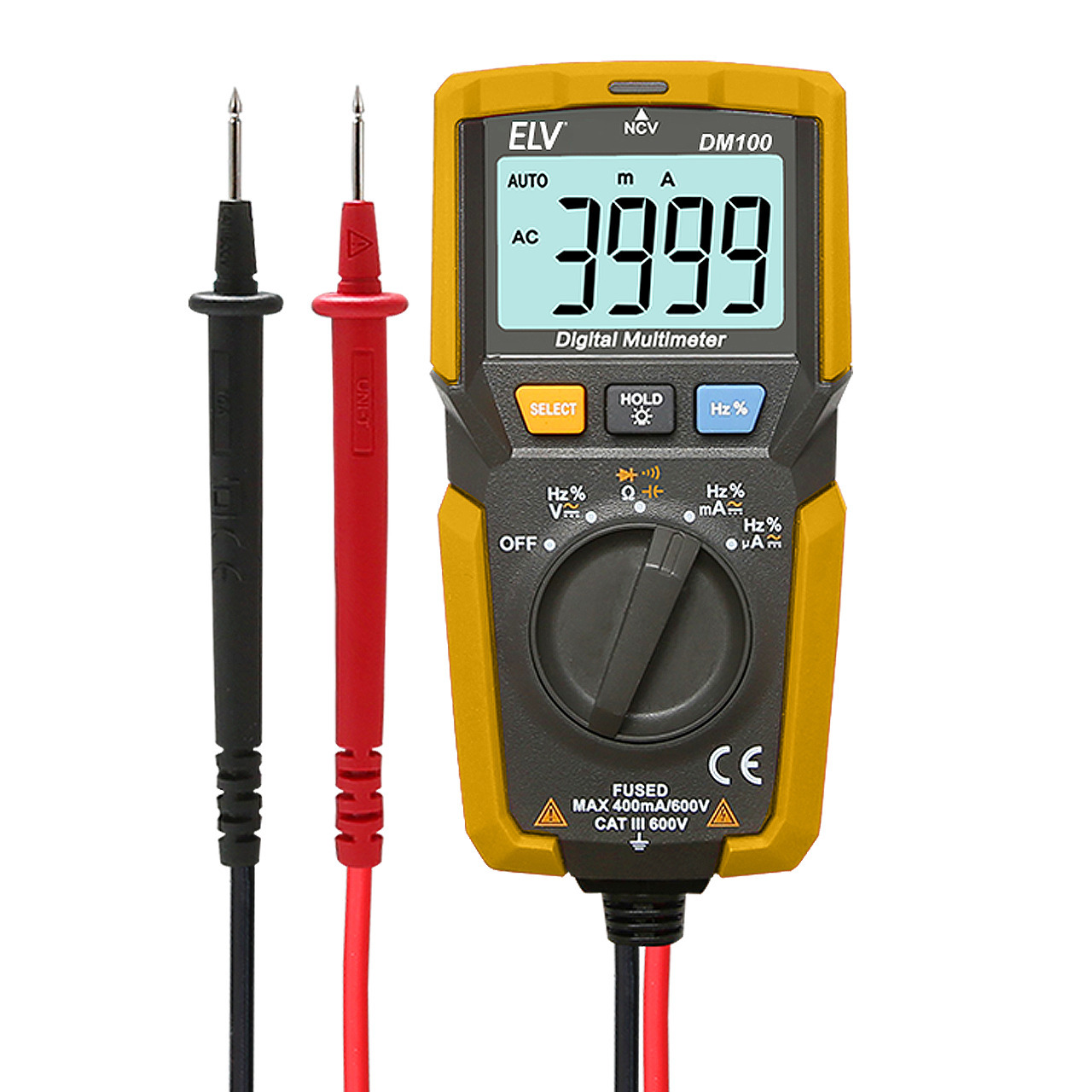 ELV digitales Pocket-Multimeter DM100- inkl- berührungsloser Spannungsprüfer