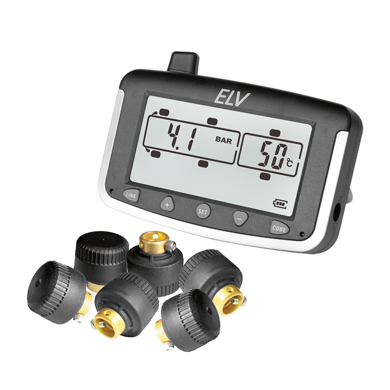 ELV EK215 Reifendruckkontrollsystem fund-252 r Wohnmobile und Transporter- erweiterbar- mit 6 Sensoren