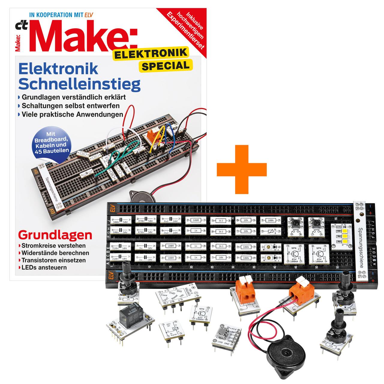 ELV Experimentierset-Prototypenadapter inkl- Make Sonderheft