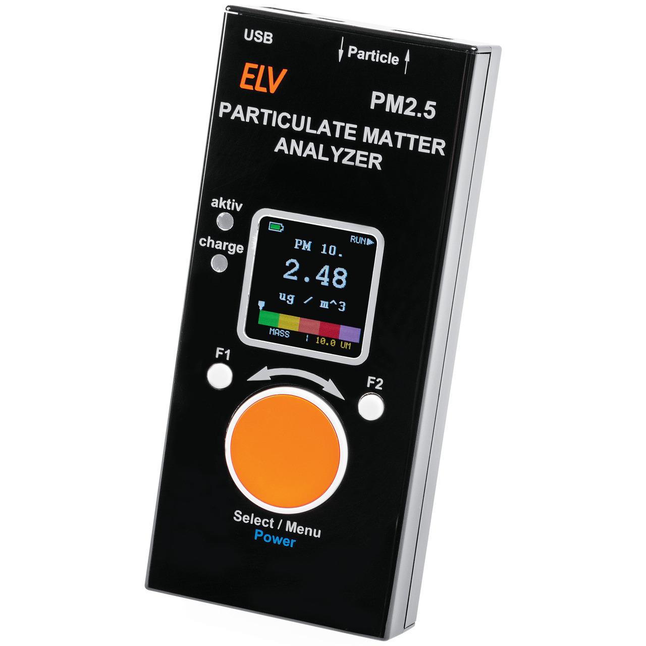 ELV Feinstaub-Messgerät PM2-5 (verbauter Feinstaubsensor SPS30 ist MCERTS-Zertifiziert)