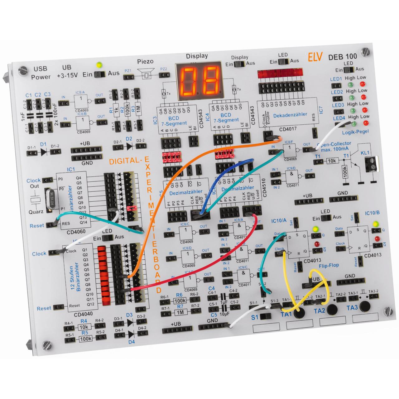 ELV Fertiggerät Digital-Experimentierboard DEB100