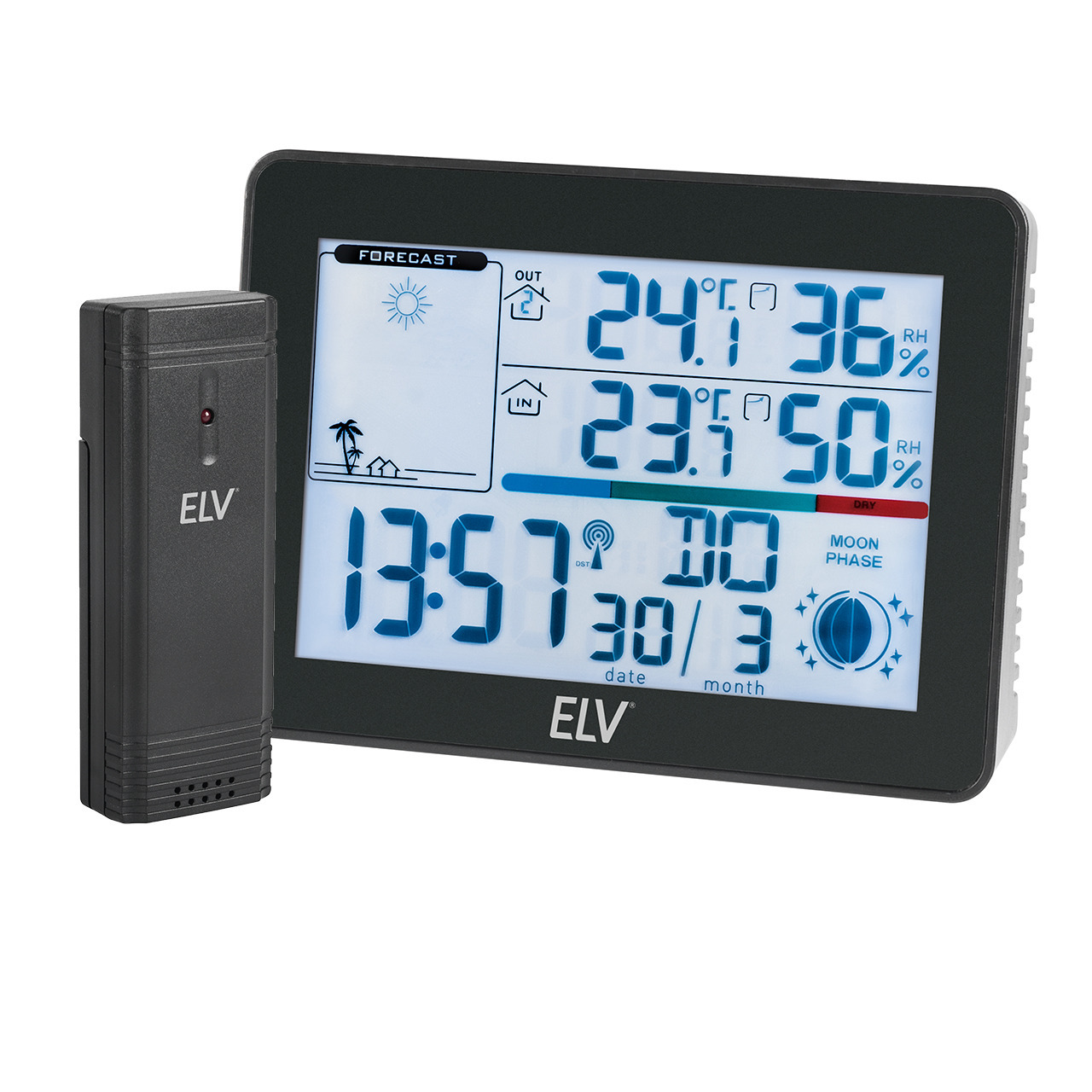 ELV Funk-Wetterstation WS50- inkl- Aussensensor