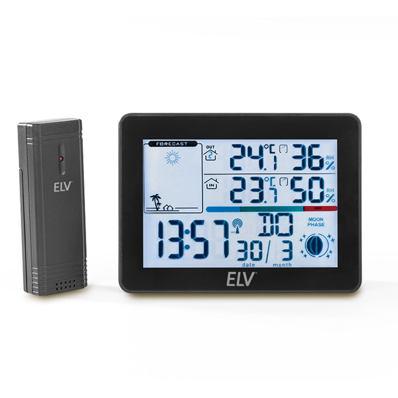 ELV Funk-Wetterstation WS50- inkl- Auund-223 ensensor