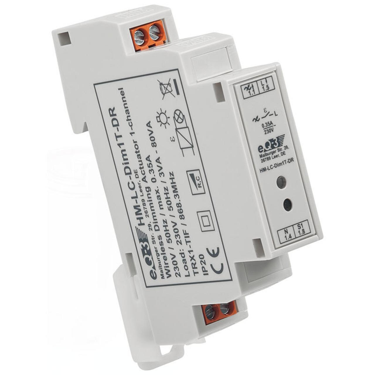 ELV Homematic Bausatz Funk-Dimmaktor 1-fach- Hutschienenmontage HM-LC-Dim1T-DR