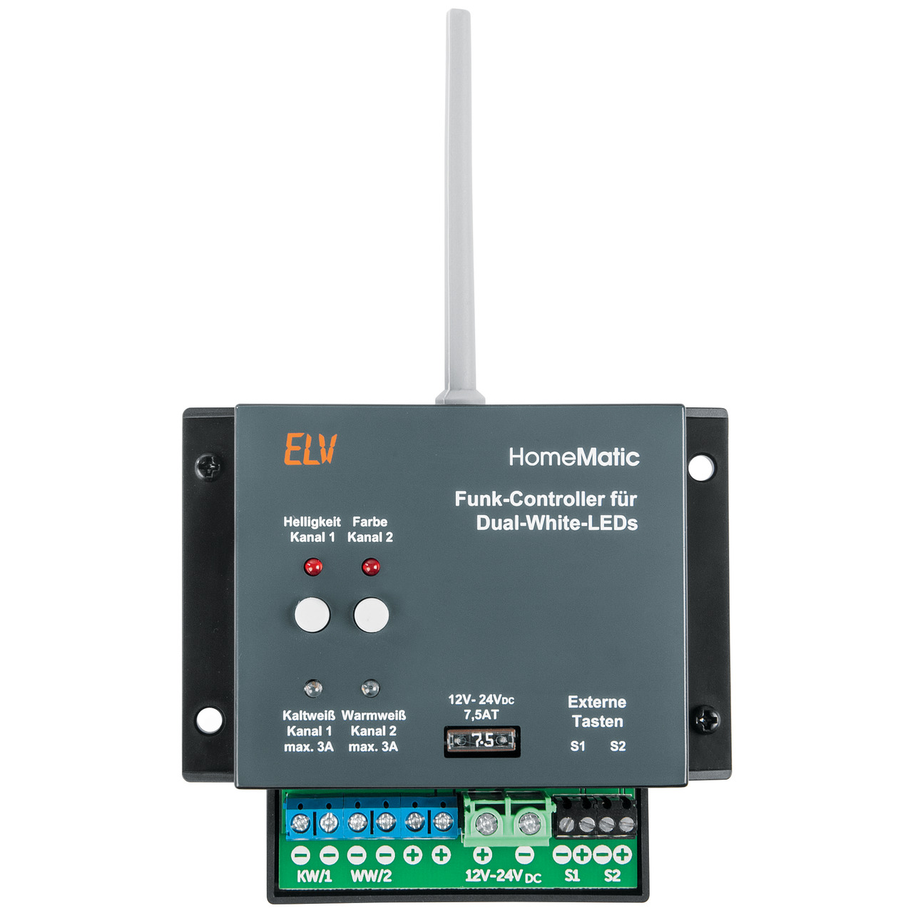 ELV Homematic Homematic Bausatz Funk-Controller f黵 Dual-White-LEDs HM-LC-DW-WM