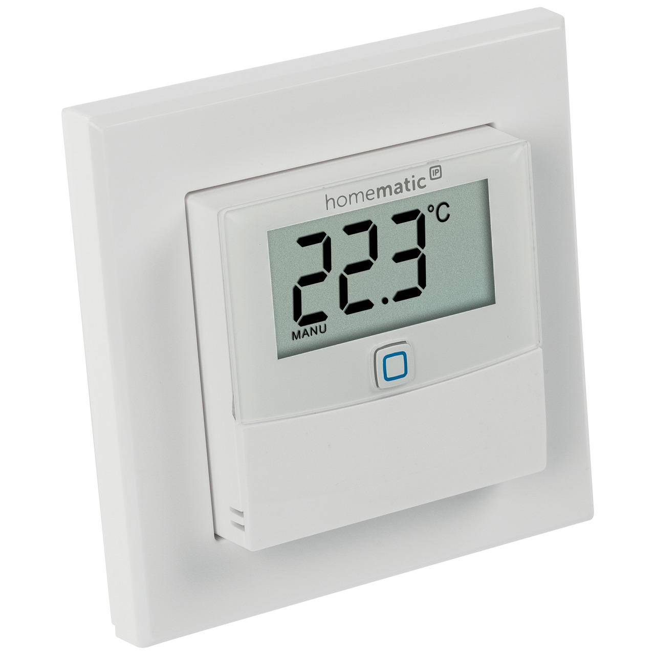 ELV Homematic IP ARR-Bausatz Temperatur-Luftfeuchtesensor mit Display HmIP-STHD