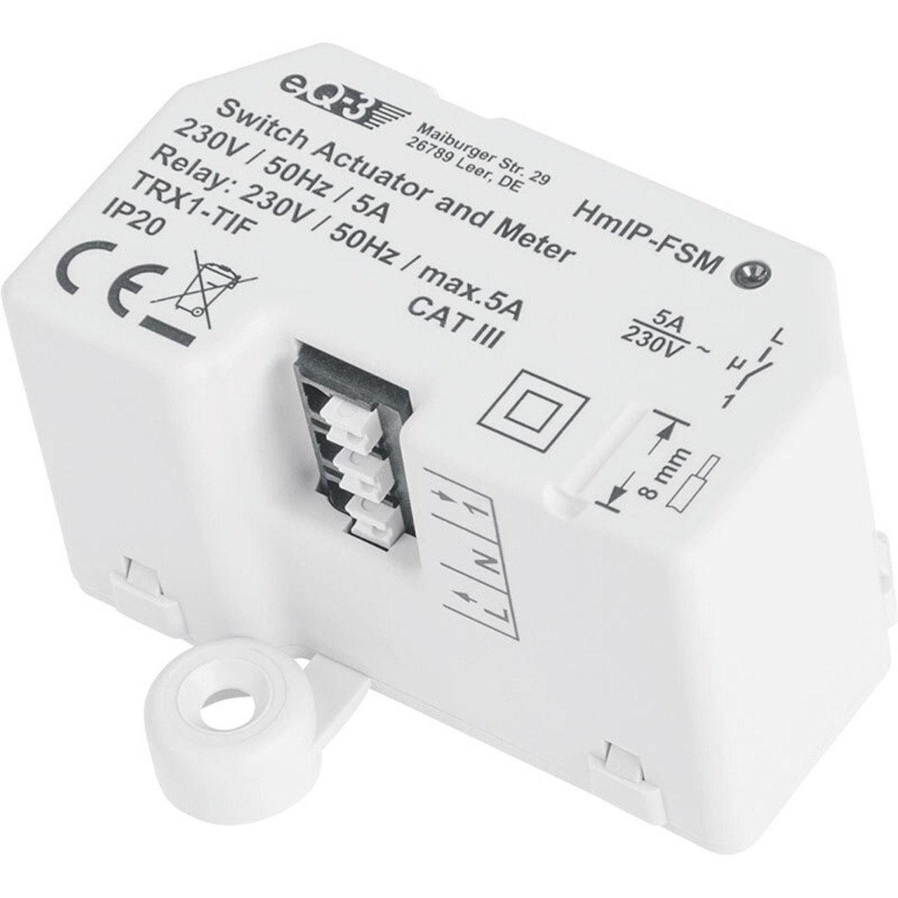 ELV Homematic IP ARR-Bausatz Unterputz-Schalt-Mess-Aktor 5 A HmIP-FSM