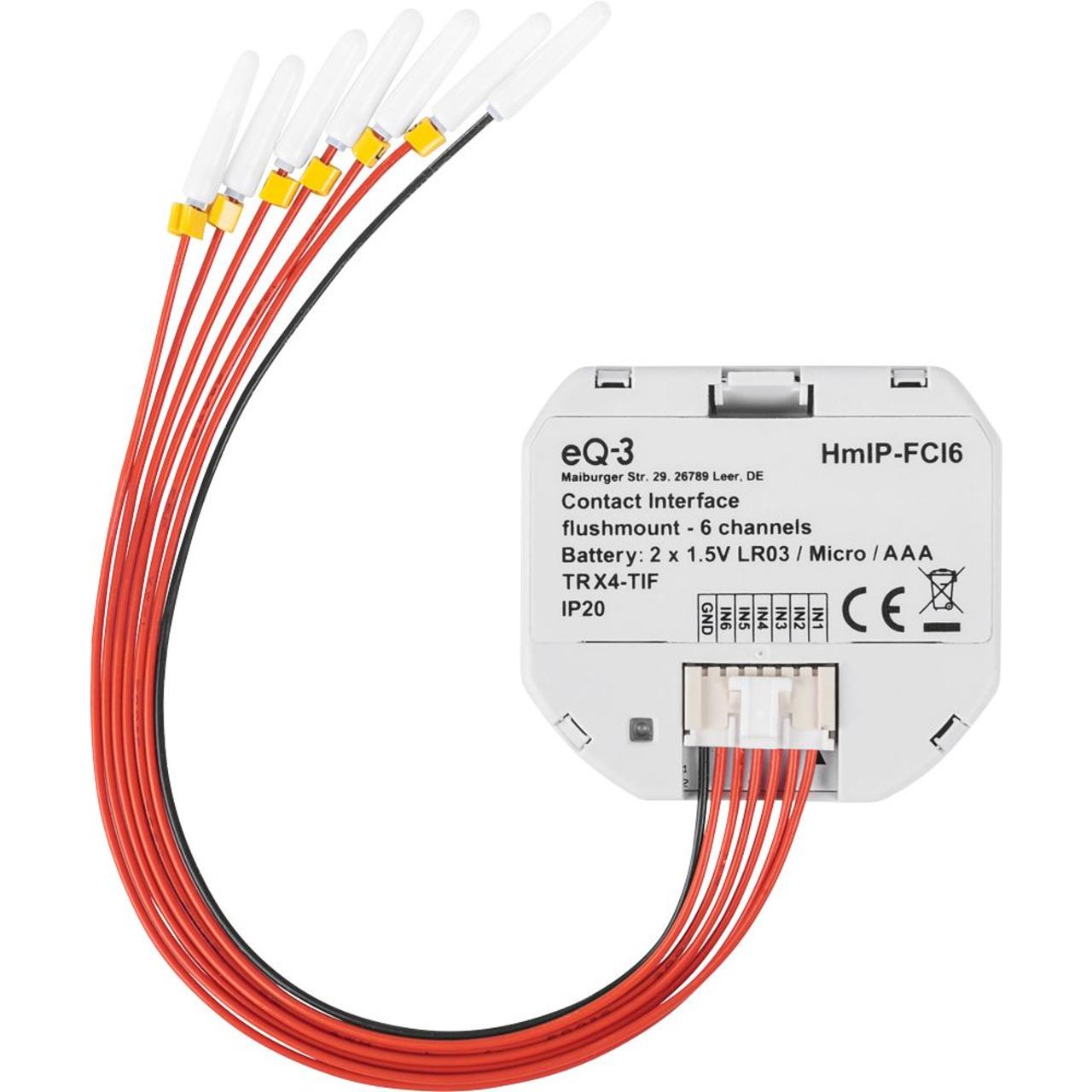 ELV Homematic IP Bausatz Kontakt-Schnittstelle Unterputz - 6-fach HmIP-FCI6