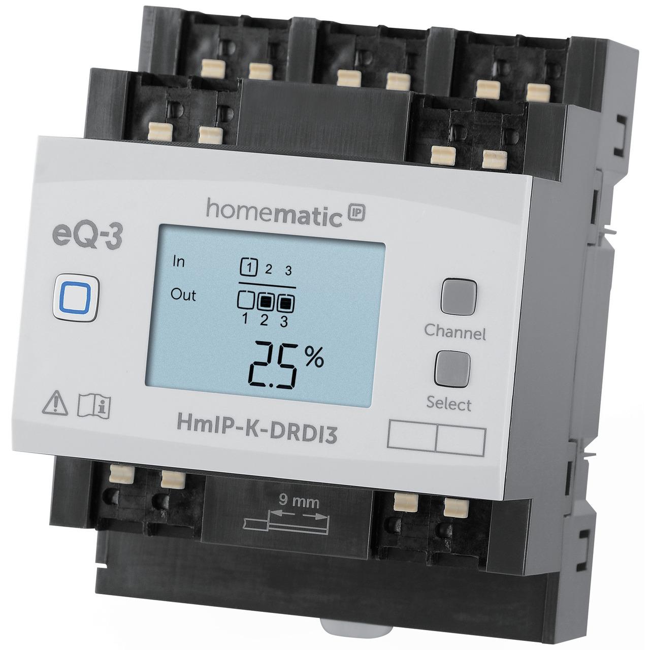 ELV Homematic IP Komplettbausatz 3-fach-Dimmaktor fund-252 r Hutschienenmontage HmIP-K-DRDI3