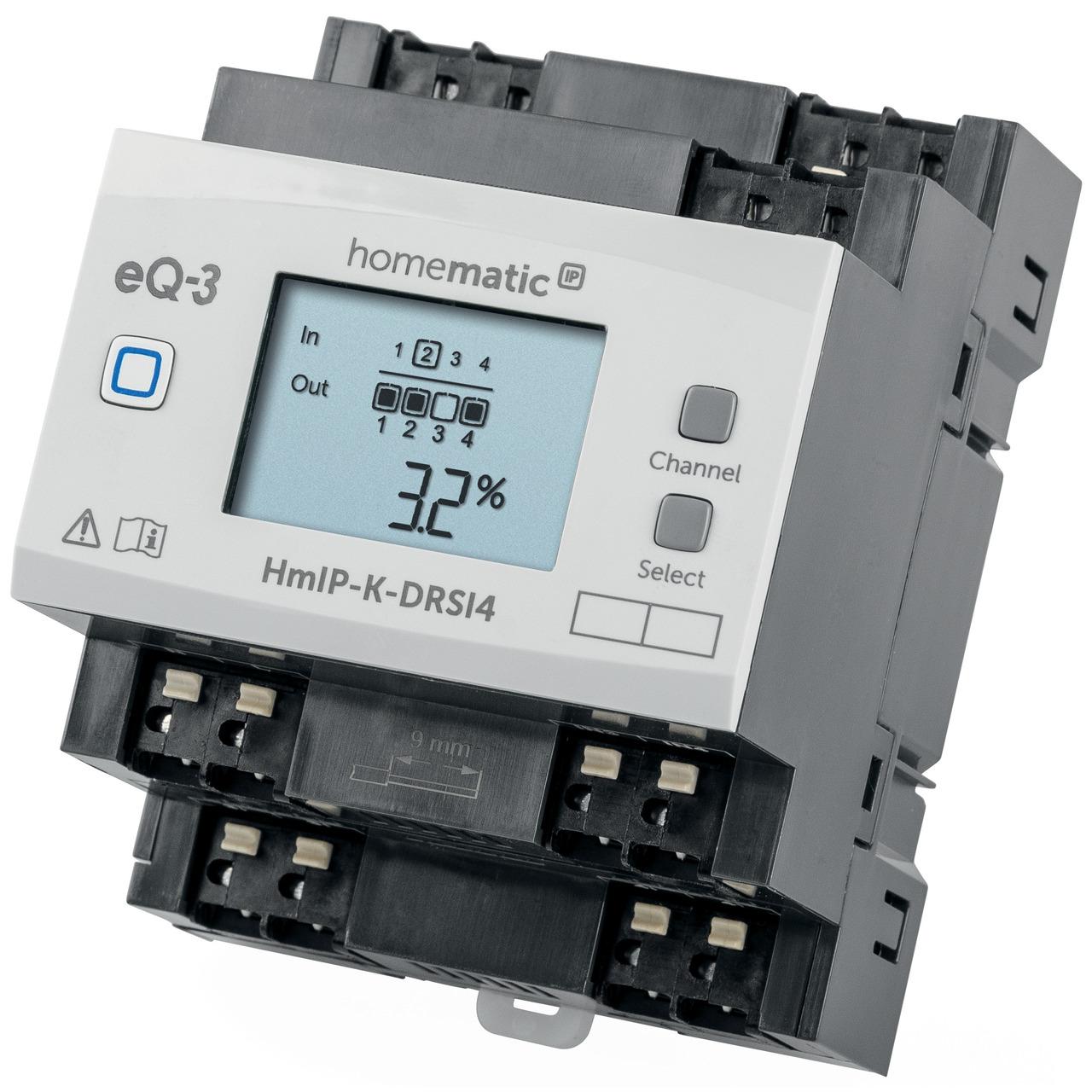 ELV Homematic IP Komplettbausatz Funk-Schaltaktor für Hutschienenmontage 4-fach HmIP-K-DRSI4