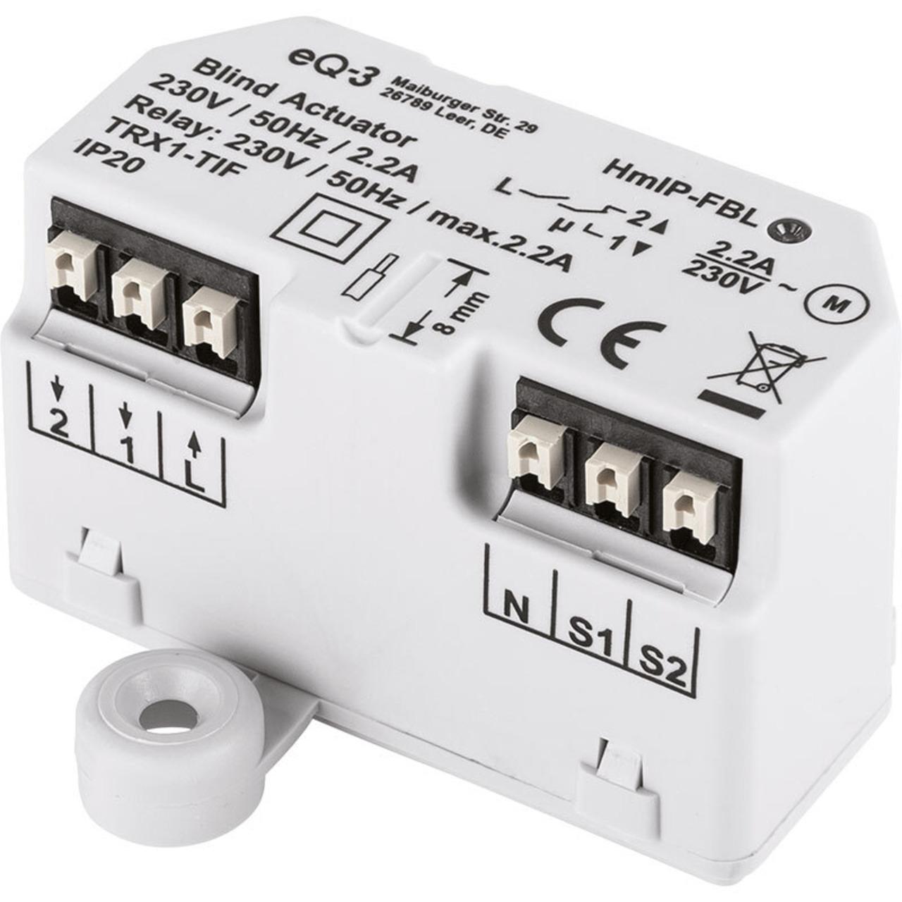 ELV Homematic IP Komplettbausatz Jalousieaktor Unterputz HmIP-FBL- für Smart Home - Hausautomation