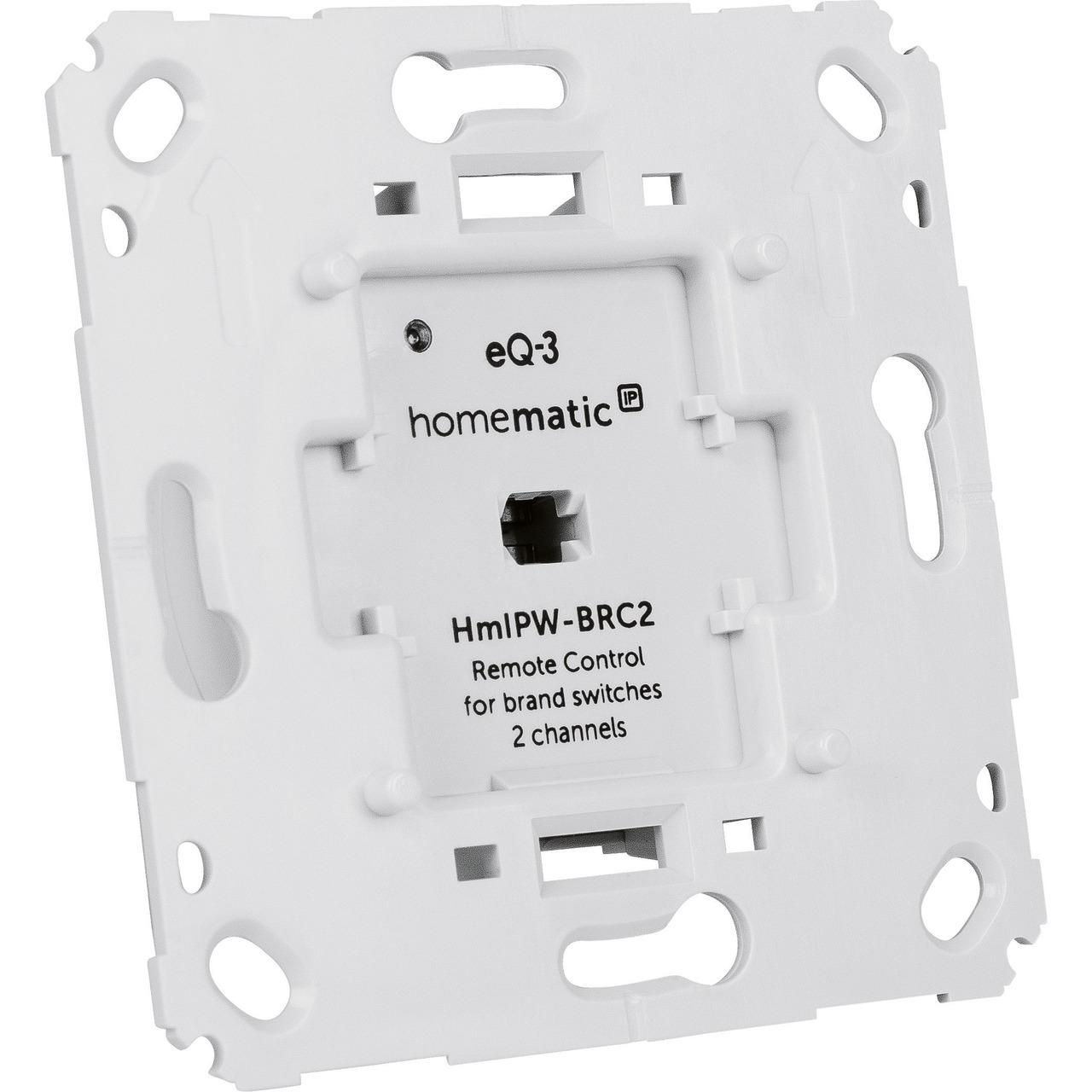 ELV Homematic IP Wired Komplettbausatz 2-Kanal-Wandtaster für Markenschalter HmIPW-BRC2