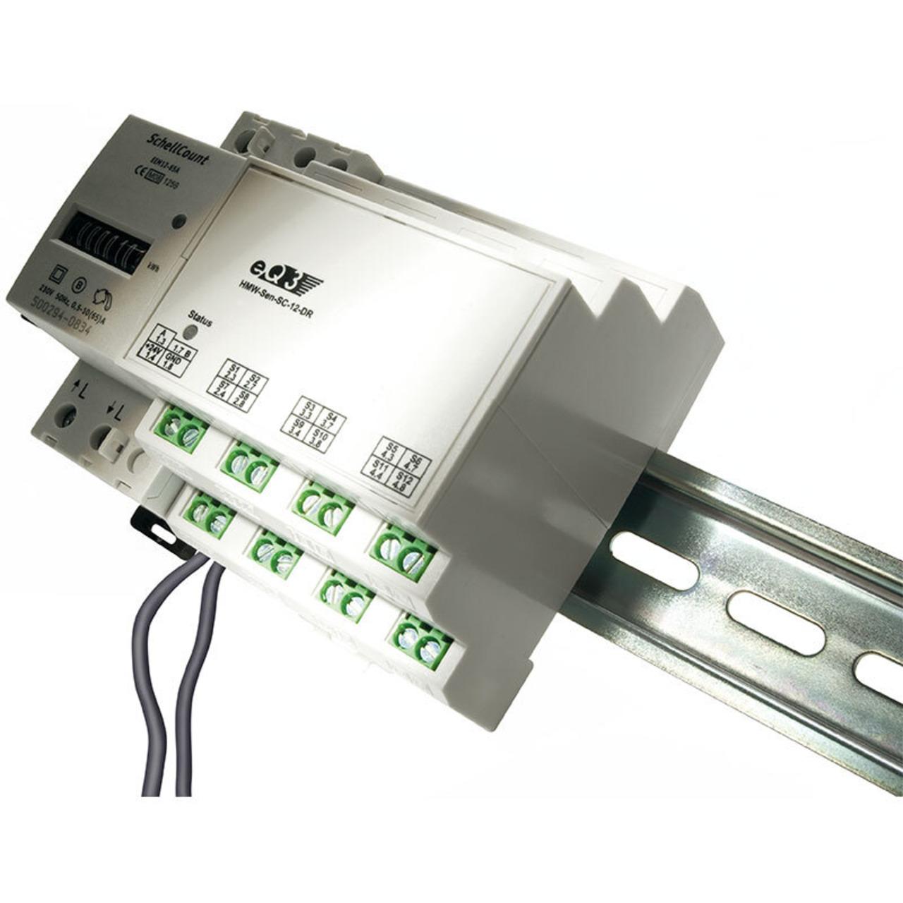 ELV Homematic Komplettbausatz 12fach-Kontaktsensor für Schaltzustandserkennung HMW-Sen-SC-12-DR