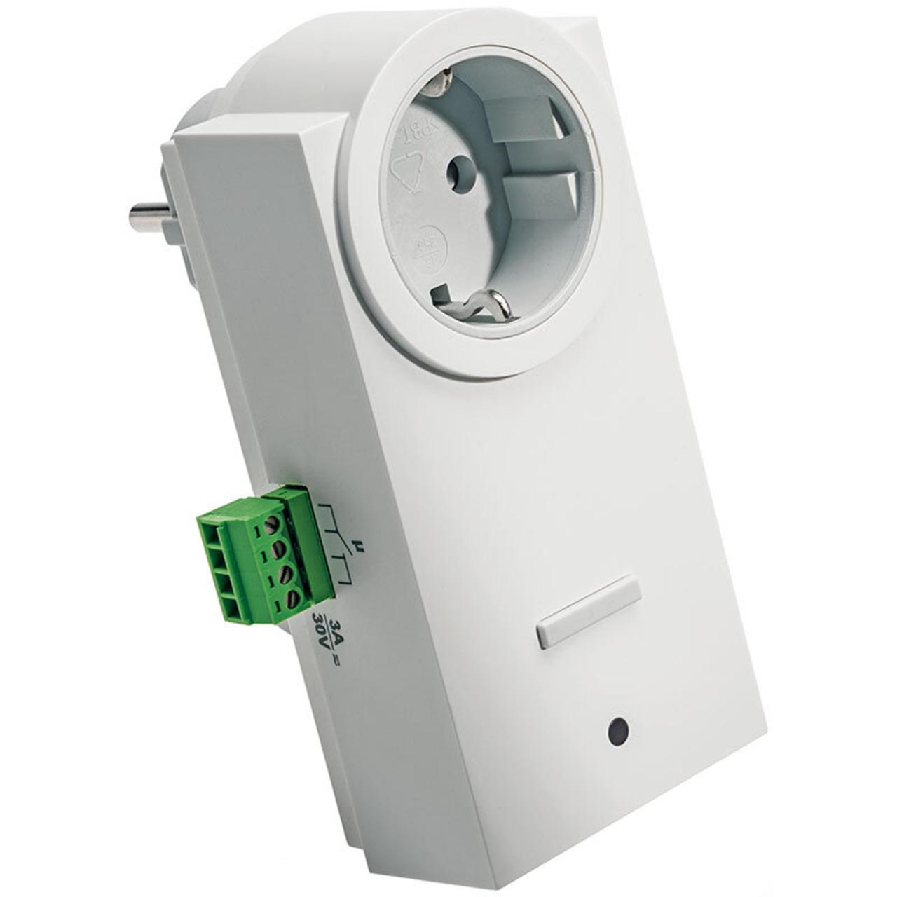 ELV Homematic Komplettbausatz Funk-Schaltaktor mit Klemmanschluss- Zwischenstecker HM-LC-Sw1-Pl-CT