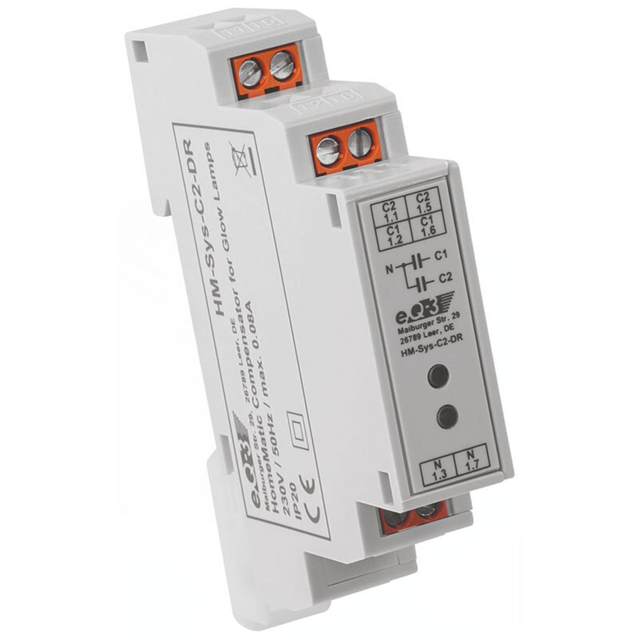 ELV Homematic Komplettbausatz Kompensator für Glimmlampen HM-Sys-C2-DR