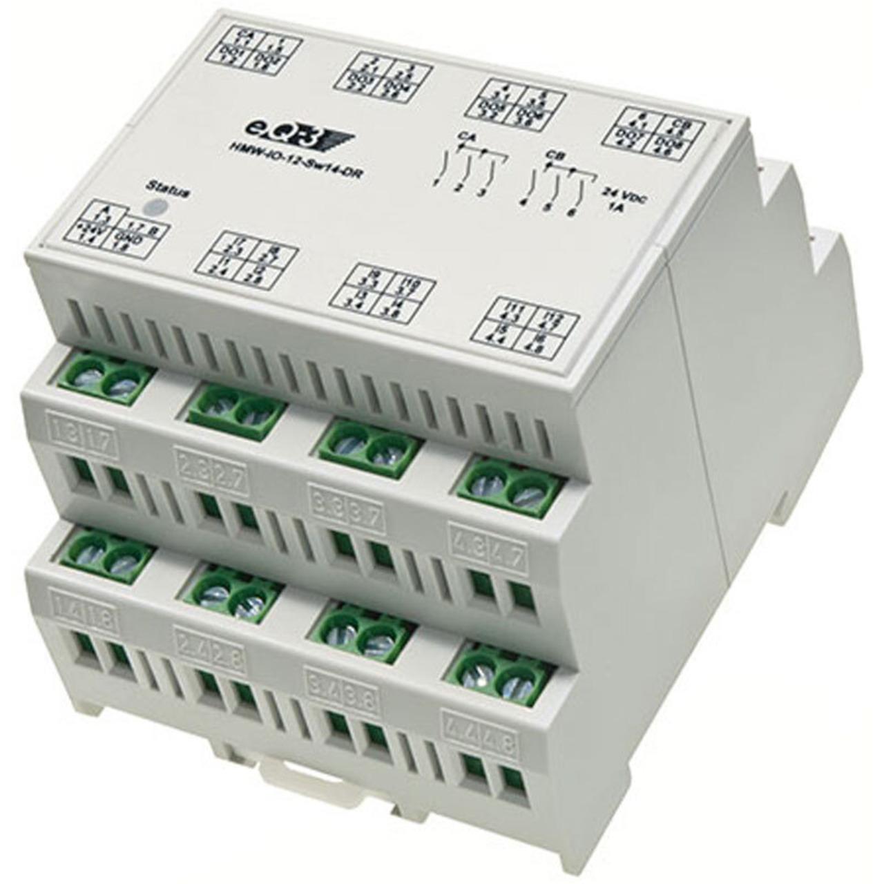 ELV Homematic Komplettbausatz Wired I-O-Board RS485- 12 Eingänge- 14 Ausgänge HMW-IO-12-Sw14-DR