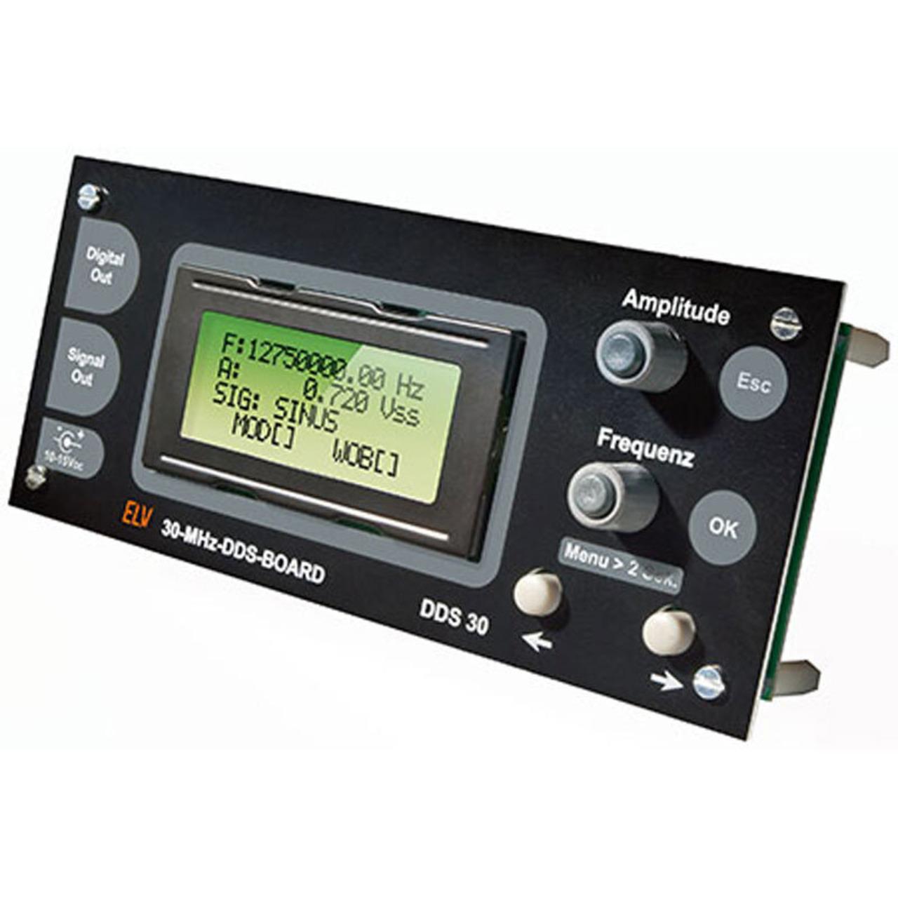 ELV Komplettbausatz 30-MHz-DDS-Funktionsgenerator-Board DDS30
