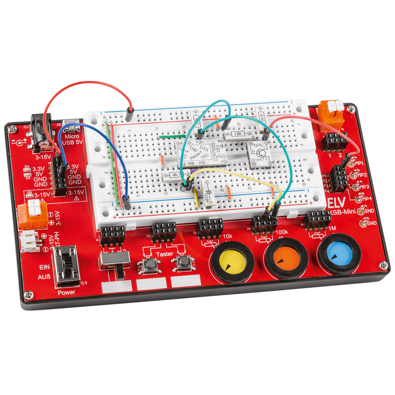 ELV Komplettbausatz Experimentier-Steckboard EXSB-Mini