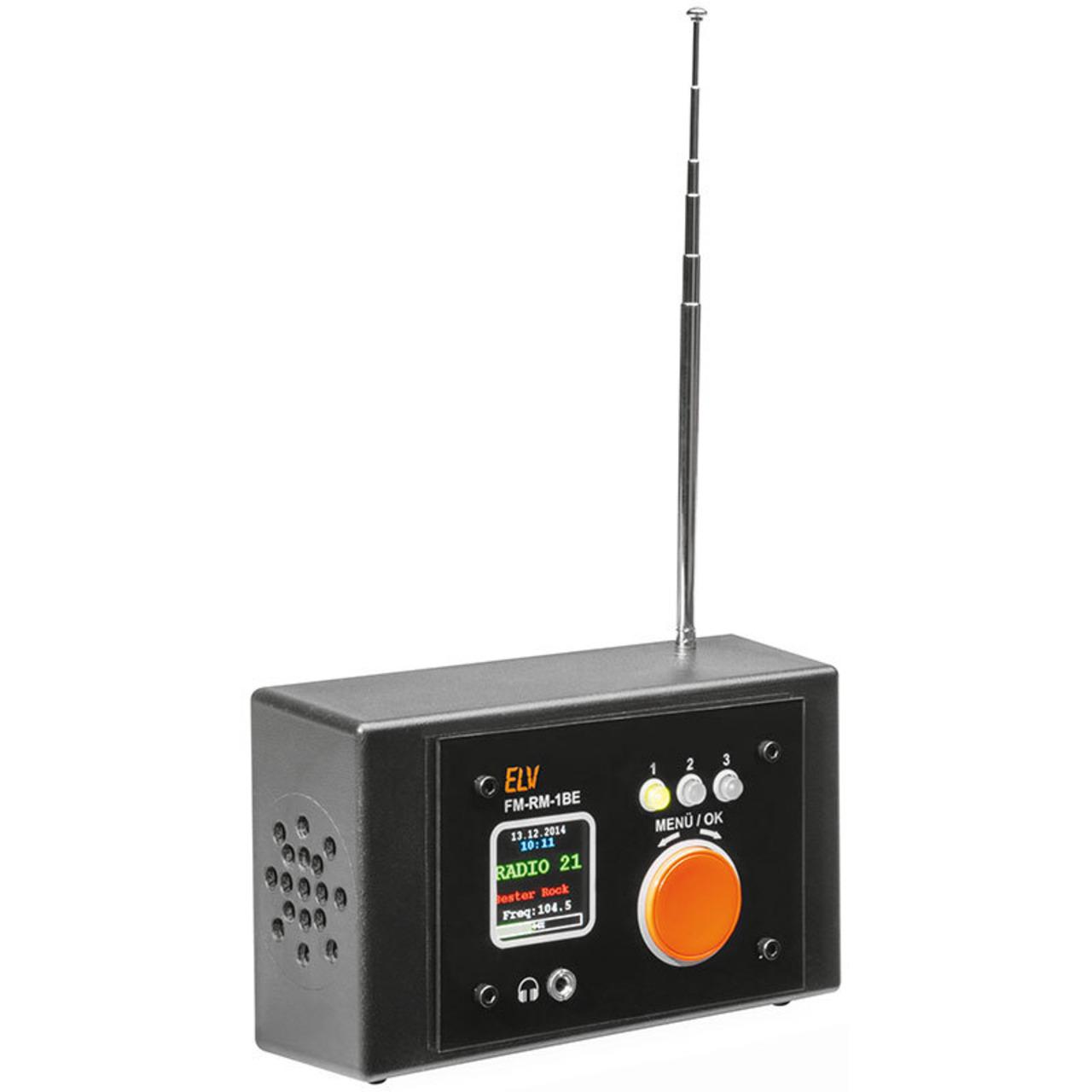 ELV Komplettbausatz FM-Receiver Modul mit Si4705- FM-RM1 inkl- Bedien- und Anzeigeeinheit FM-RM1BE