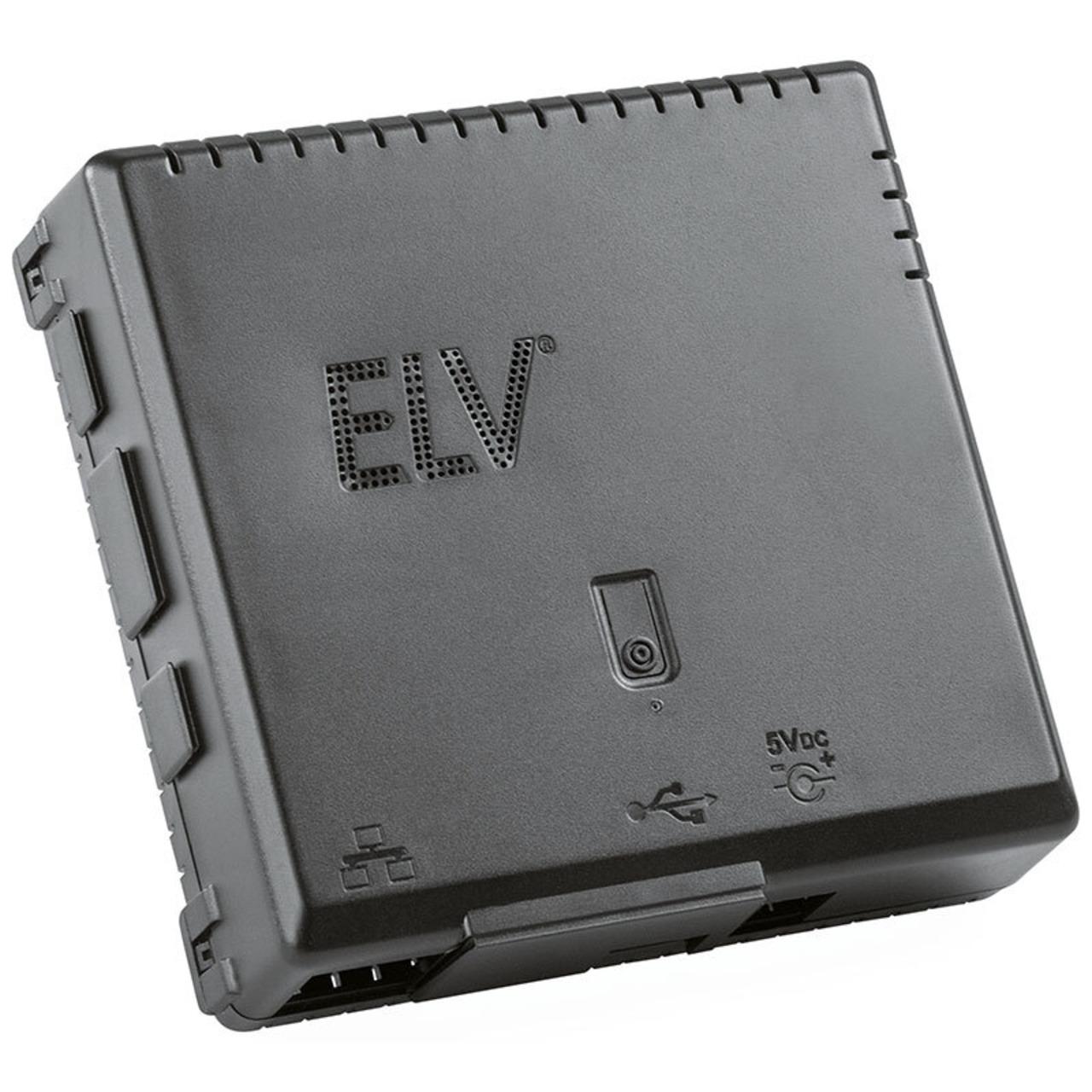 ELV Komplettbausatz Gehäuse RP-Case für Raspberry Pi und RPI-RF-MOD Funk-Modulplatine- schwarz