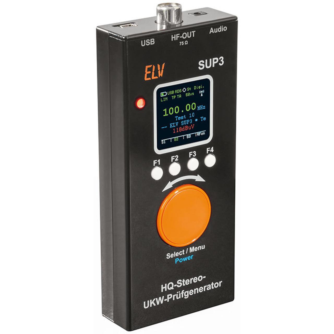 ELV Komplettbausatz HQ-Stereo-UKW-Prüfgenerator mit OLED-Display SUP3