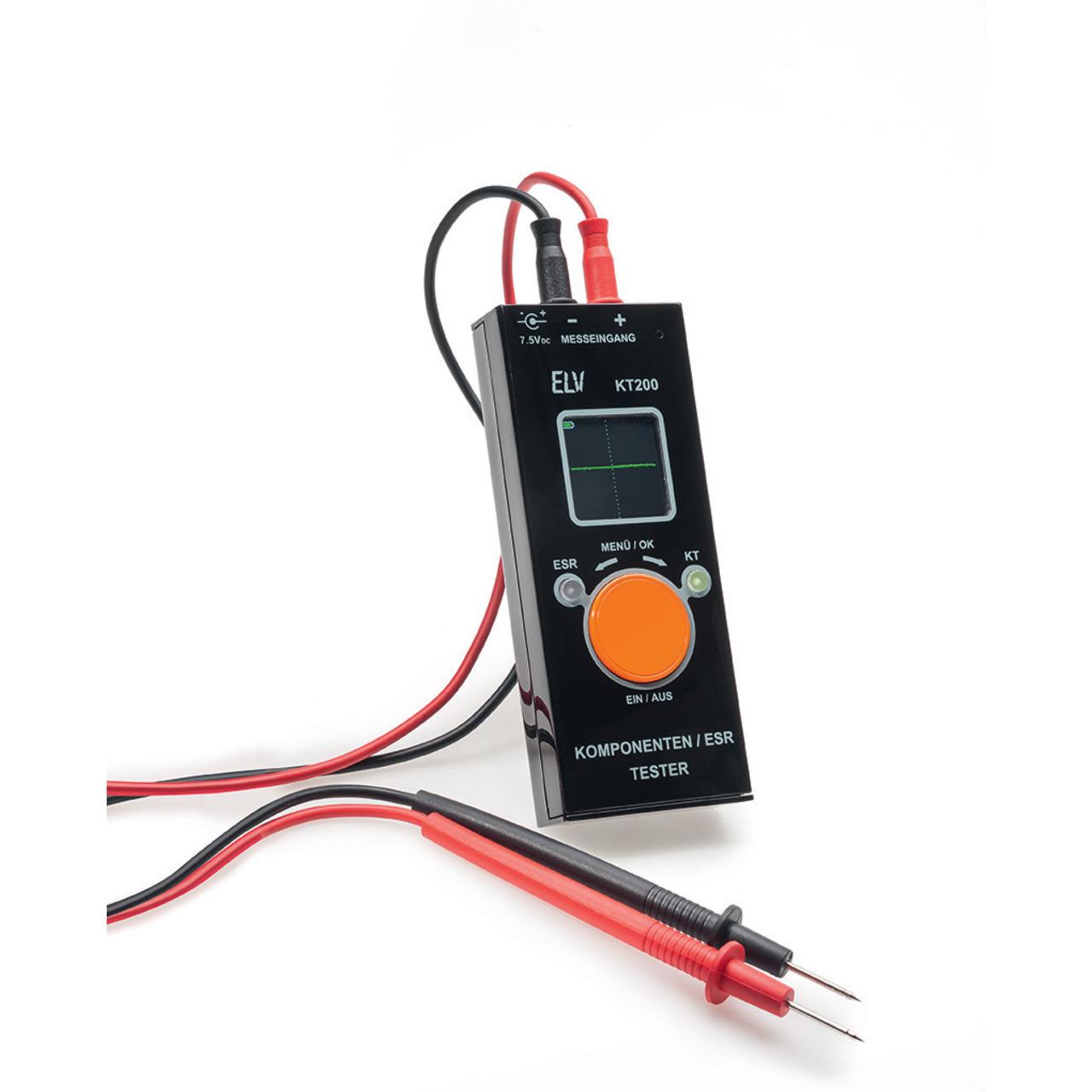 ELV Komplettbausatz Komponententester-ESR-Meter mit OLED-Display KT200