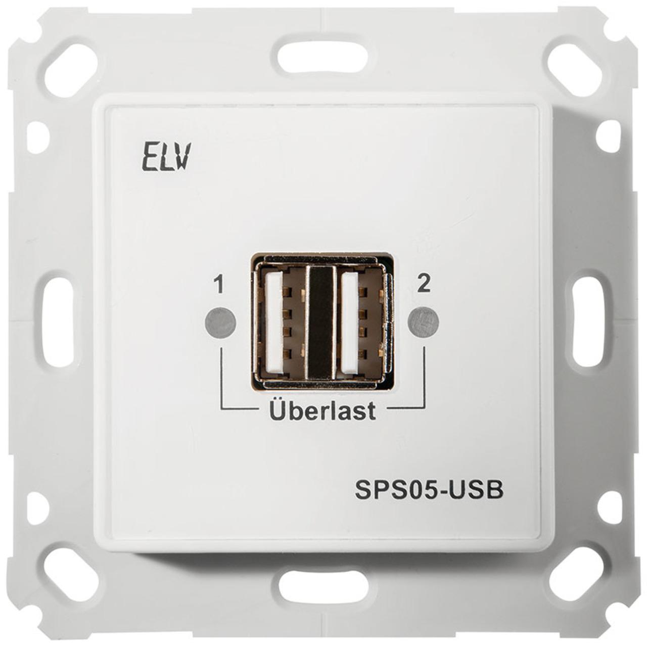 ELV Komplettbausatz Unterputz Schaltnetzteil mit USB-Buchse SPS05-USB- ohne Rahmen