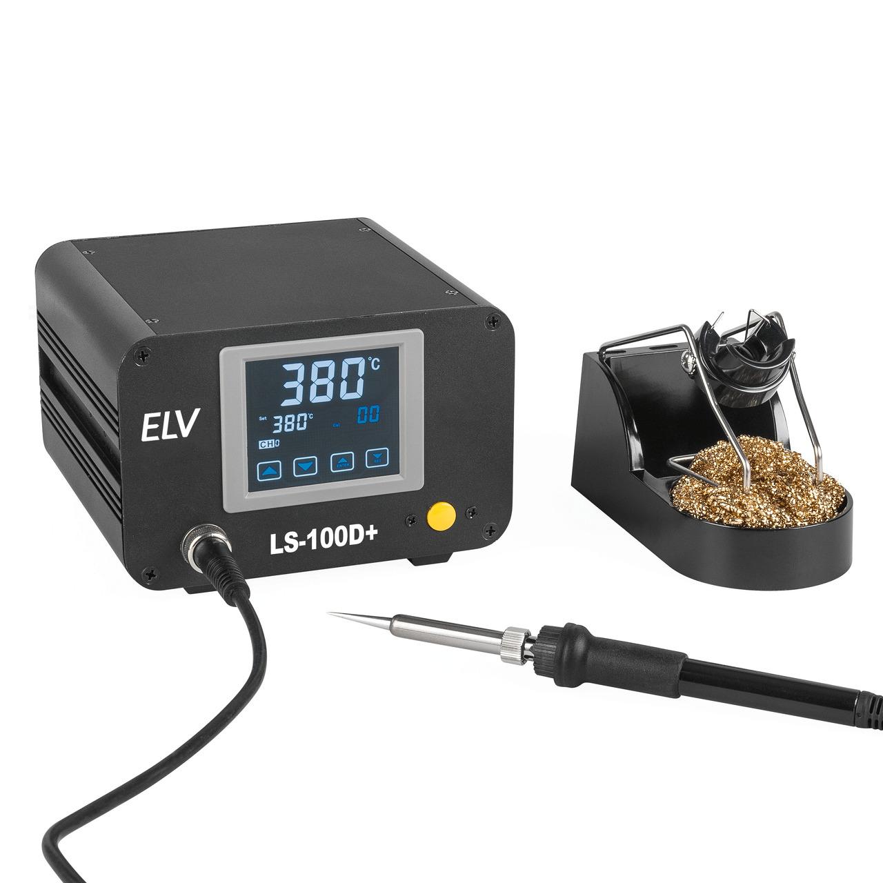 ELV Lötstation LS-100D+- 100 W- ESD-gerecht- mit Touchbedienung