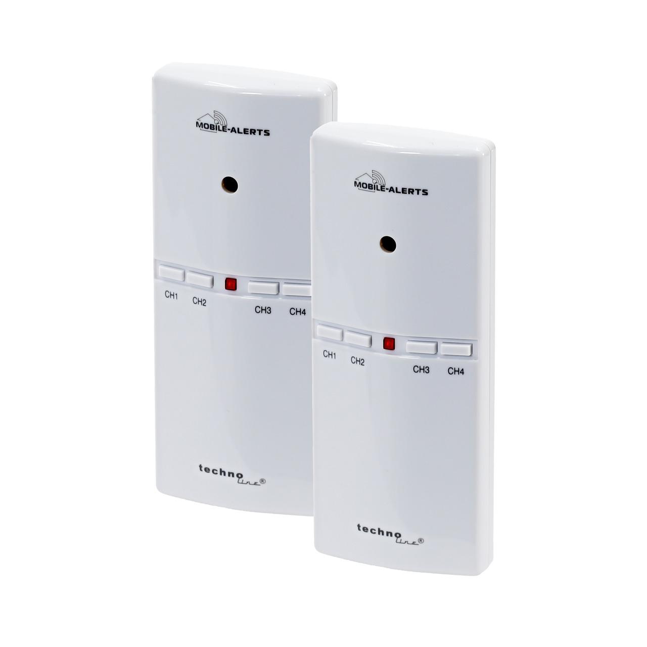 ELV Mobile Alerts Alarmgeber MA10860 fund-252 r Gefahrenmelder- inkl- Temperatursensor- 2er Set