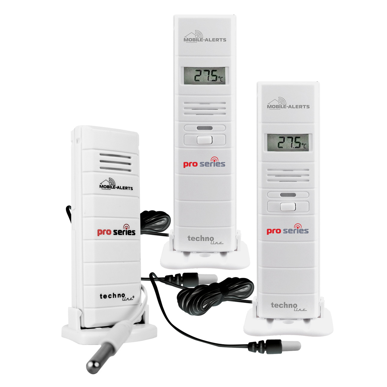 ELV Mobile Alerts PRO-Sensoren-Spar-Set: 2 Sensor MA10320PRO- 1 Temperatursensor MA10120PRO