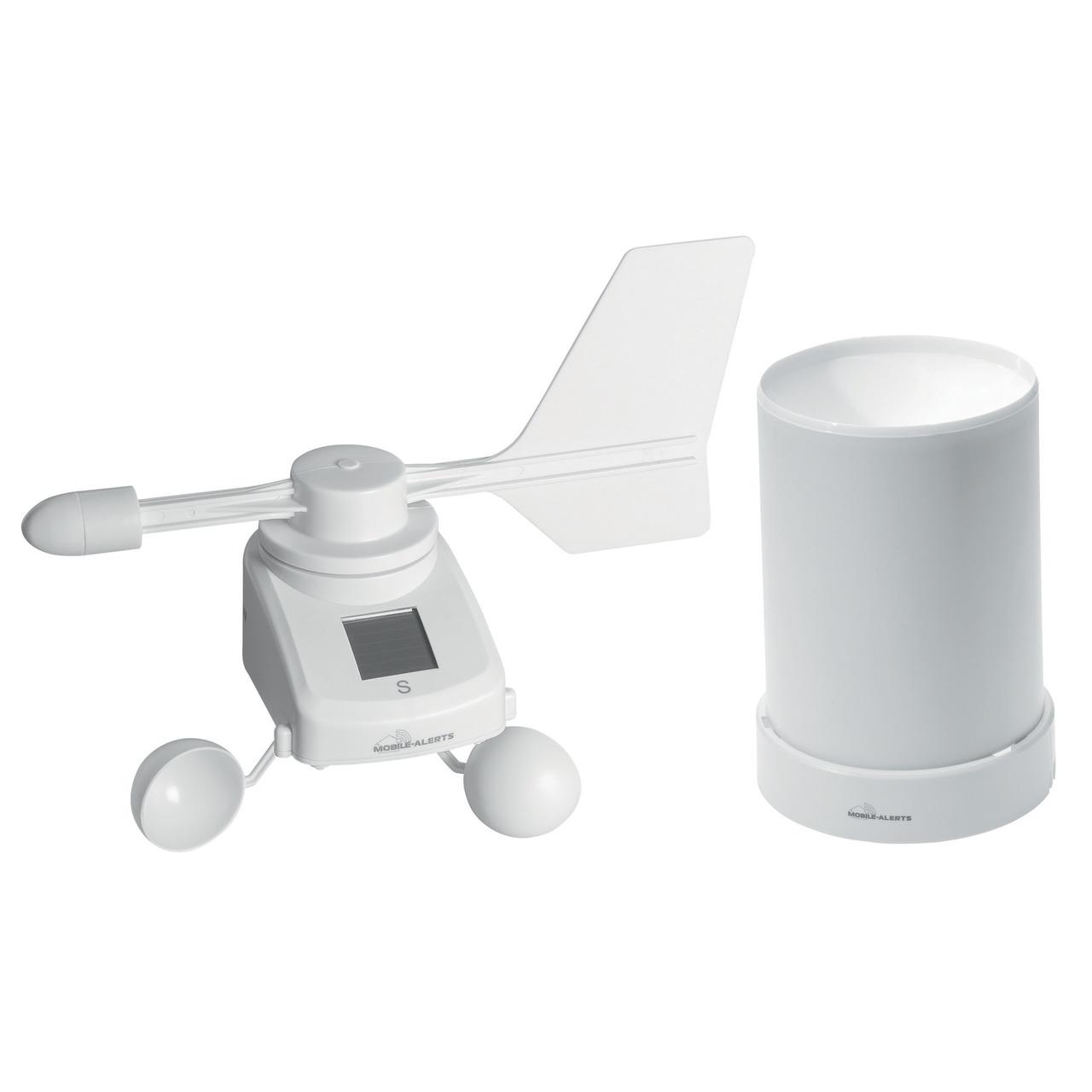 ELV Mobile Alerts Spar-Set: Windmesser MA10660PRO- mit Solarpanel und Regensensor MA10650PRO