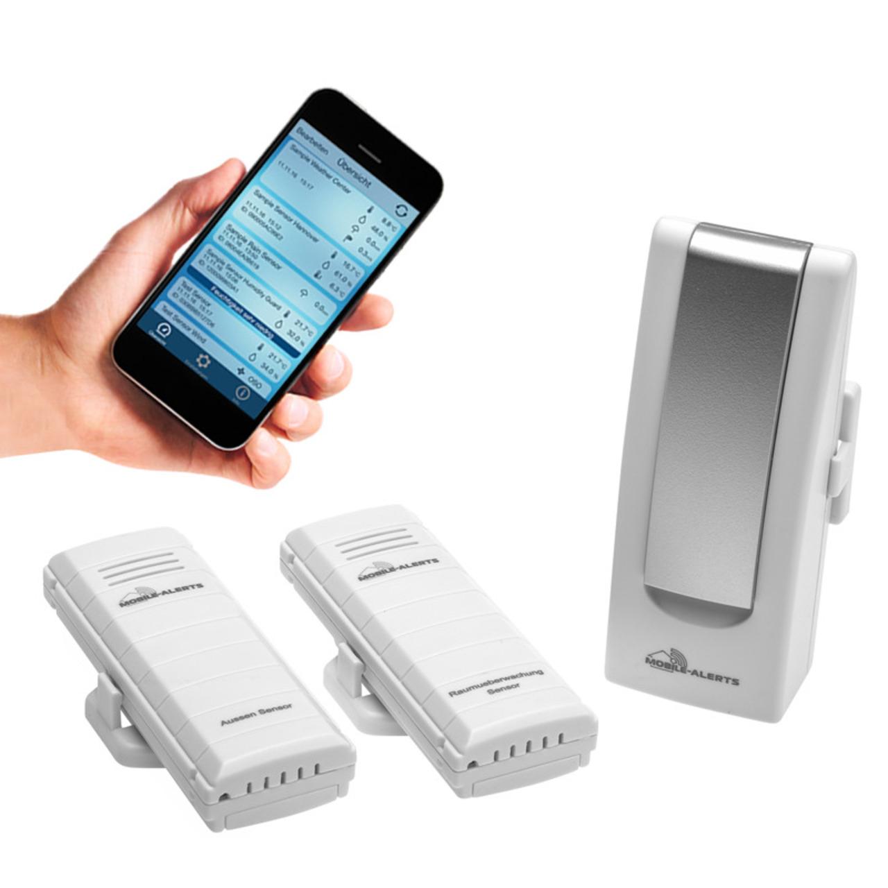 ELV Mobile Alerts Temperatur- Luftfeuchteund-252 berwachungs-Set MA10012- gibt Handlungsempfehlung