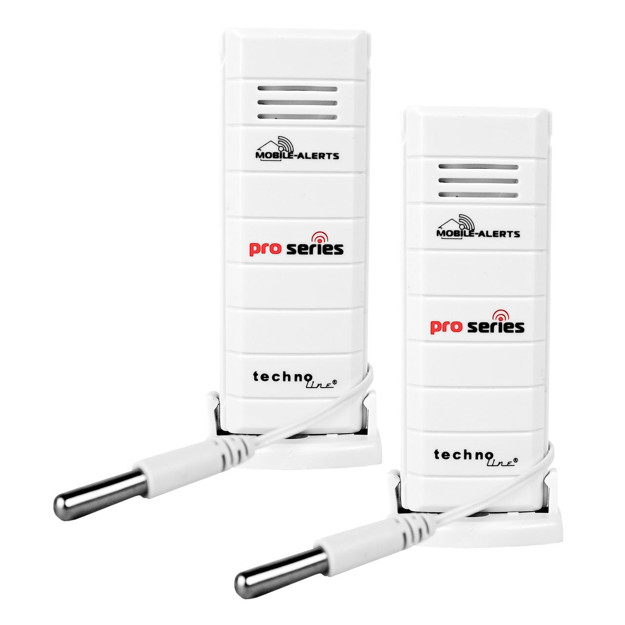 ELV Mobile Alerts Temperatursensor MA10120PRO- mit zusund-228 tzlichem Kabelsensor- 2er Set