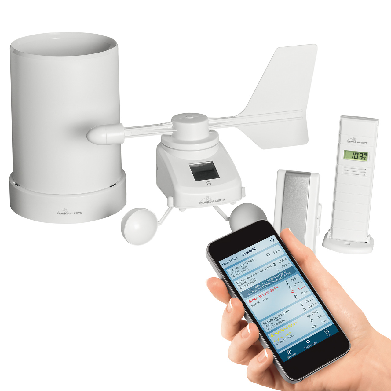 ELV Mobile Alerts Wetterset MA10050- mit App für iOS und Android