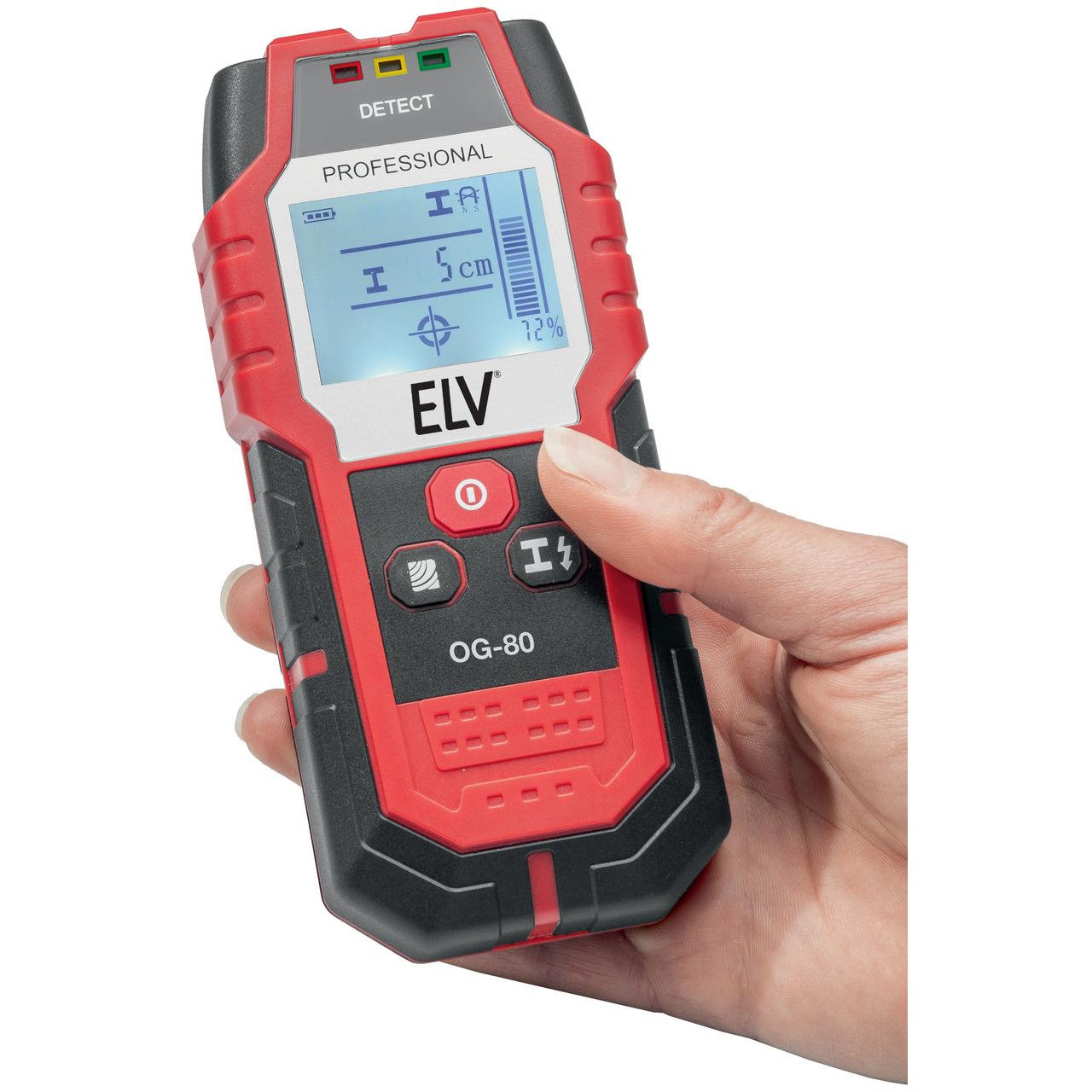 ELV Ortungsgerät OG-80- bis zu 80mm Suchtiefe (Metallträger)