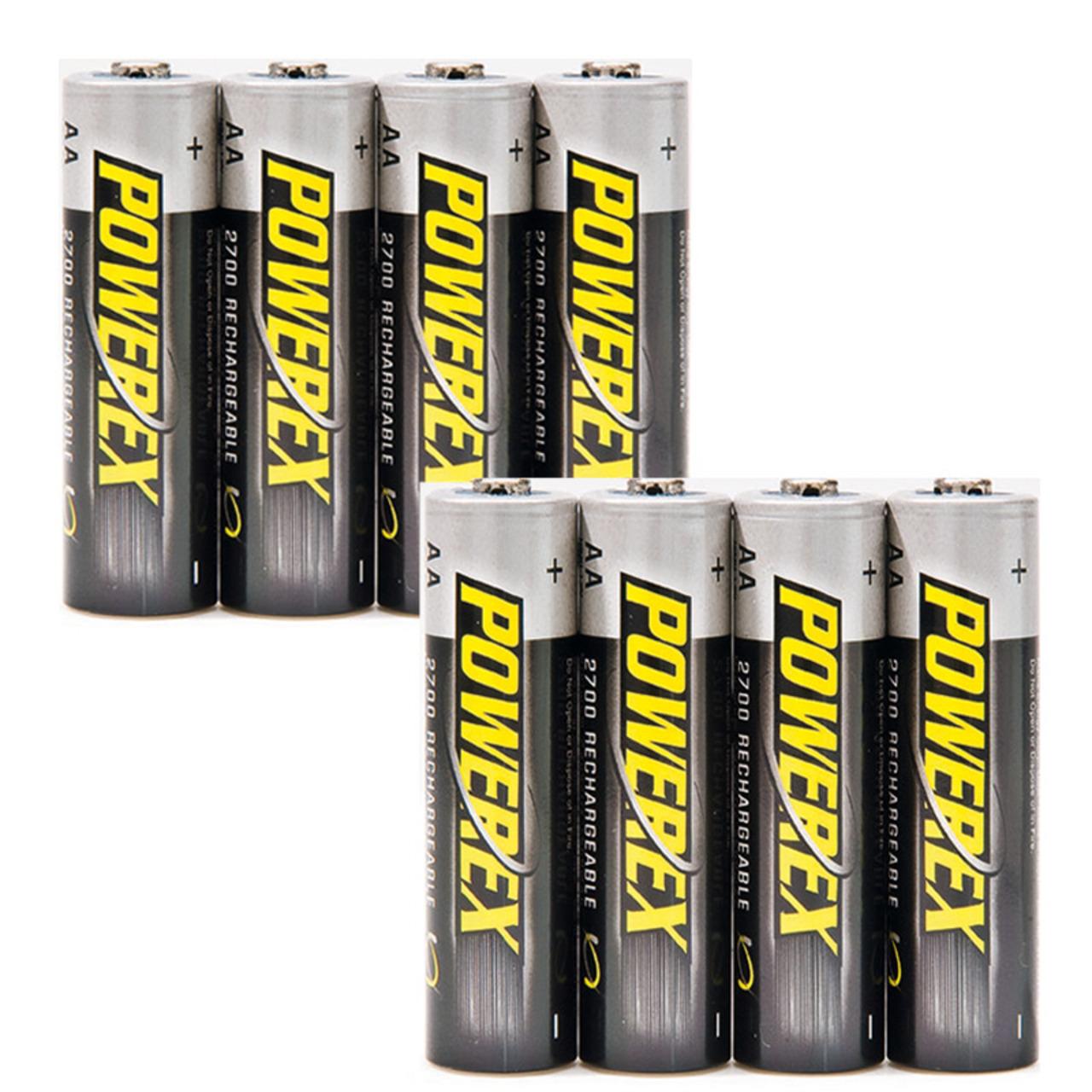 ELV Powerex-NiMH-Akku- Mignon AA 2700 mAh- 8er-Pack
