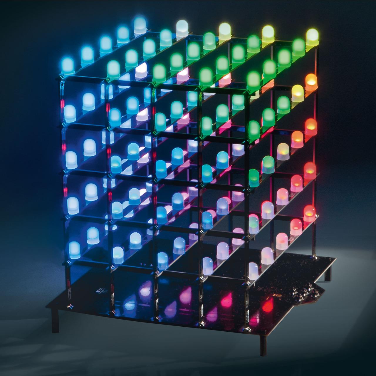 ELV Spar-Set 5x5x5-RGB-Cube RGBC555- Komplettbausatz inkl- LEDs und Netzteil
