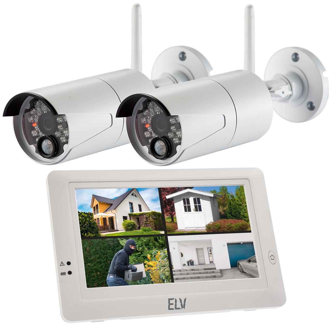 ELV Spar-Set Funk-Kamerasystem KS200 HD mit 2 Kameras- 2-4 GHz- App- HD (720p)
