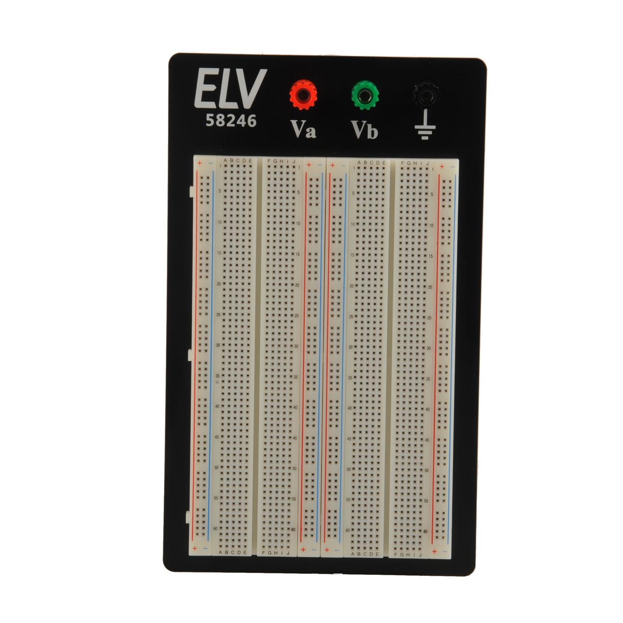 ELV Steckplatine-Breadboard 104 J- 1660 Kontakte- mit Drahtbrücken-Set