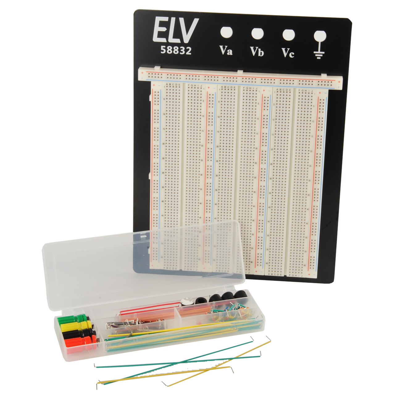 ELV Steckplatine-Breadboard 106 J- 2390 Kontakte- inkl- 140-teiligem Drahtbrücken-Set