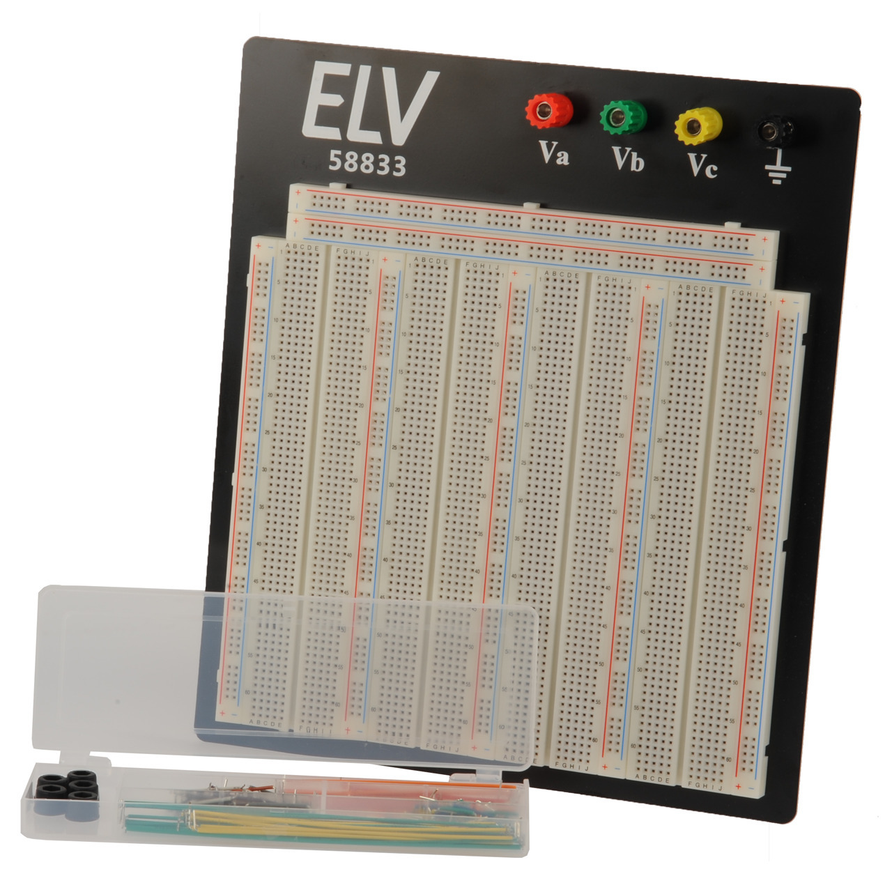ELV Steckplatine-Breadboard 108 J- 3220 Kontakte- inkl- 140-teiligem Drahtbrücken-Set