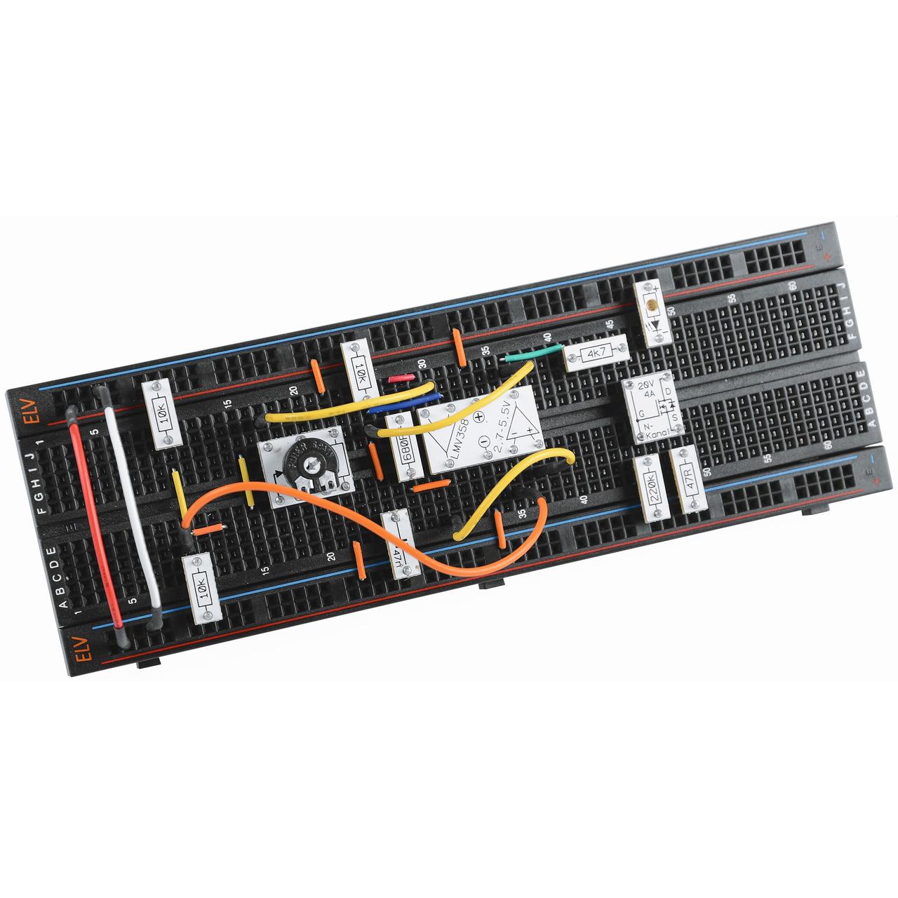 ELV Steckplatine-Breadboard mit 830 Kontakten- schwarze ELV-Version