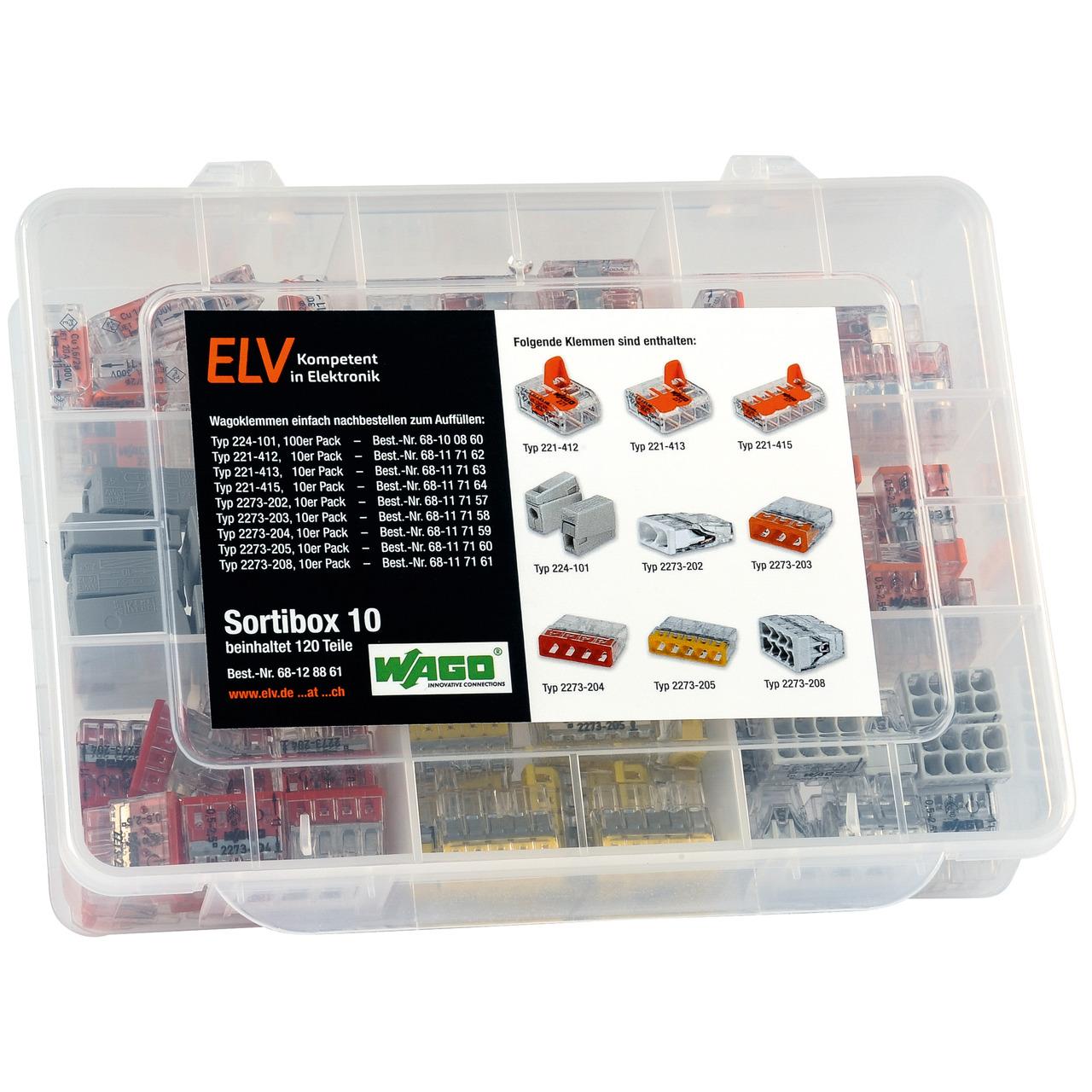 ELV Wago-Sortimentsbox Nr- 10 mit 120 Wago-Klemmen