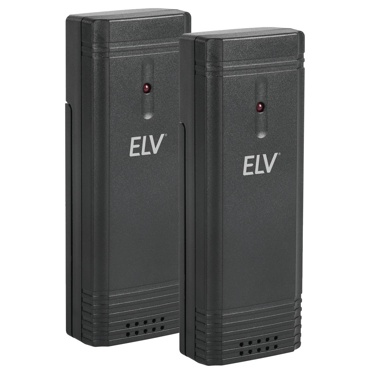 ELV Zusatz-Thermo-Hygrosensor für Funk-Wetterstation WS50- 2er-Spar-Set