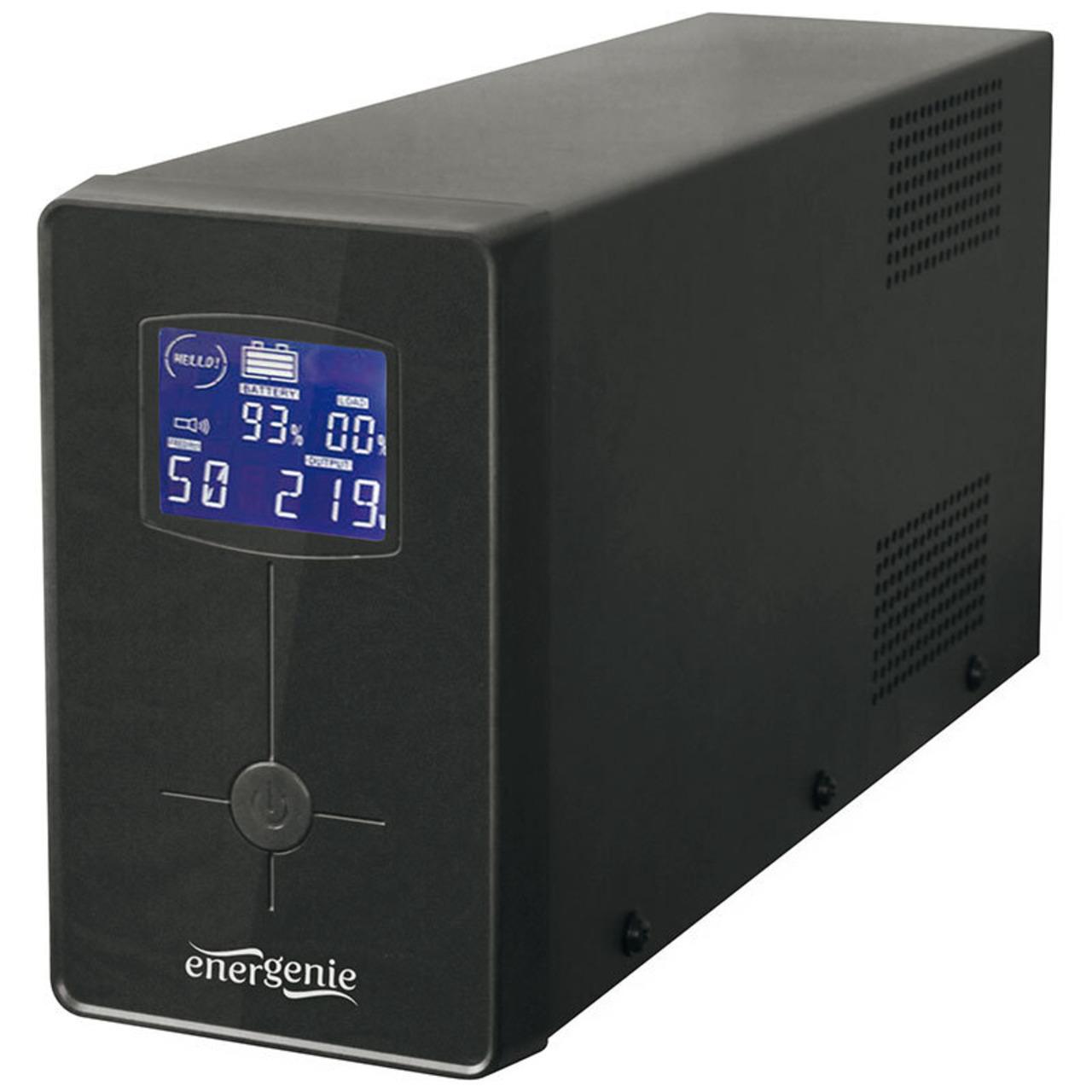 Energenie USV-Anlage mit LCD Anzeige-1200 VA- schwarz
